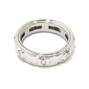 Anillo diamantes giratorio oro blanco
