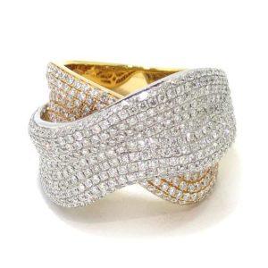 Anillo diamantes oro blanco/rosa