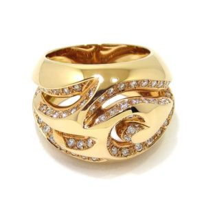 Anillo diamantes volutas oro rosa