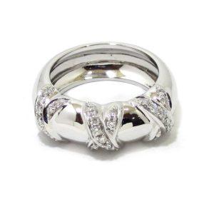 Anillo diamantes tres aspas oro