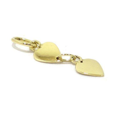 Colgante corazones oro amarillo