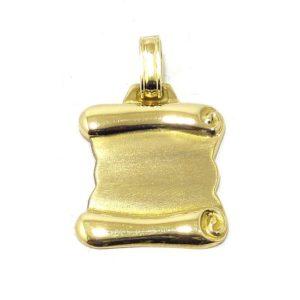Colgante pergamino mayor oro