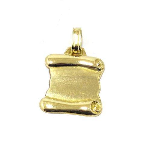 Colgante pergamino mediano oro