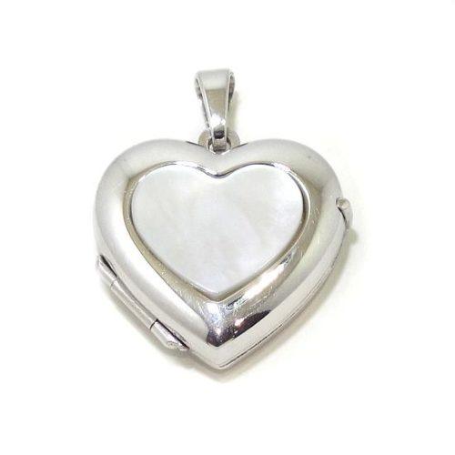 Colgante portarretratos corazón plata