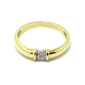 Anillo 5 diamantes oro amarillo