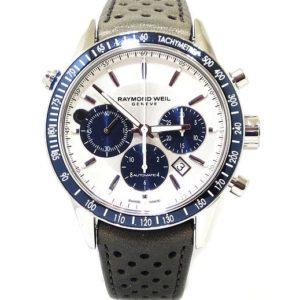 Reloj Raymond Weil Freelancer 43mm Crono Automatico esfera plata