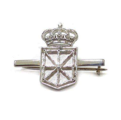 Aguja escudo Navarra 21mm de Plata