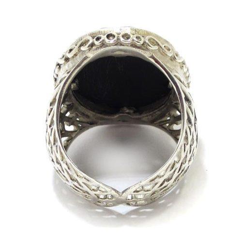 Anillo de plata onix oval