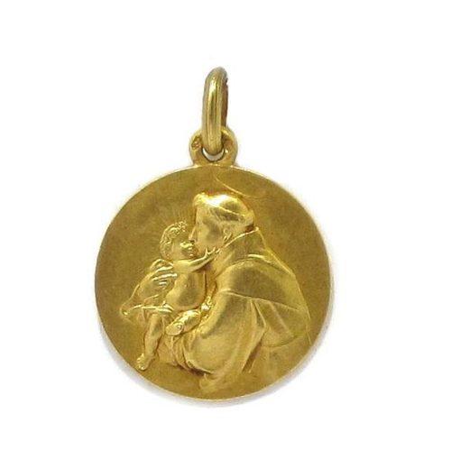 Medalla San Antonio 18mm oro