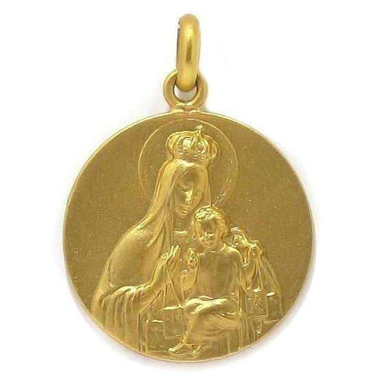 4ad3f5b22 Medalla escapulario 22mm oro amarillo - Bueno Joyeros tienda online