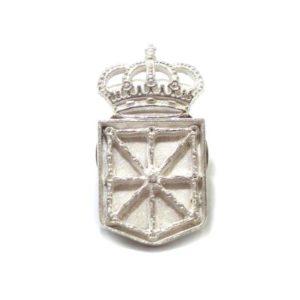 Pin Escudo de Navarra Plata