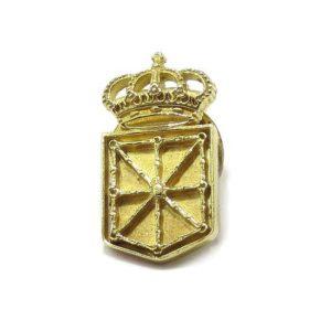 Pin escudo Navarra 21mm Plata amarilla