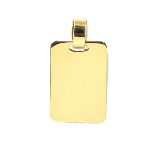 Colgante placa rectangular 13x18mm oro amarillo