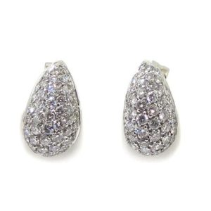 Pendientes 80 diamantes oro blanco