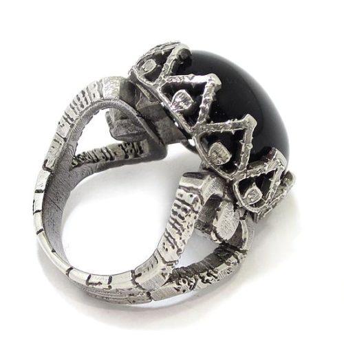 anillo de plata 925 con onix