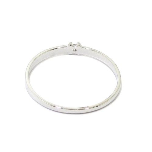 Anillo solitario diamante 0,02ct brazo 1,74mm