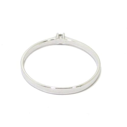 Anillo solitario diamante 0,02ct brazo 1,8mm
