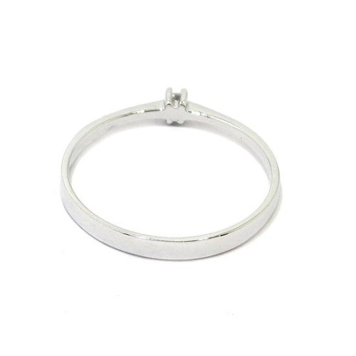 Anillo solitario diamante 0,02ct brazo 2mm
