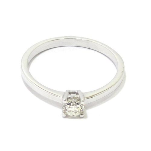 Anillo solitario diamante talla brillante 0.27ct