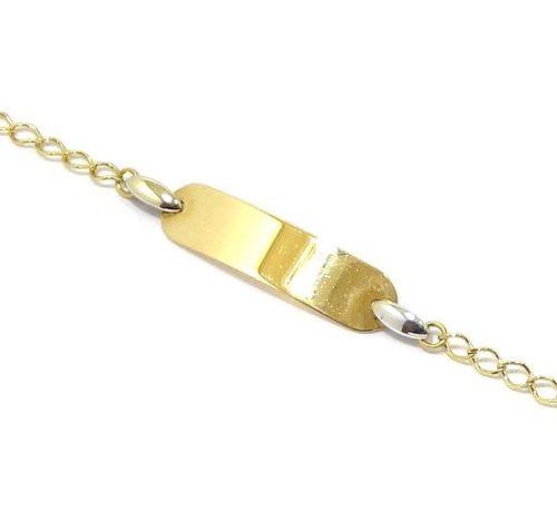 Pulsera identidad oro amarillo 13,5cm