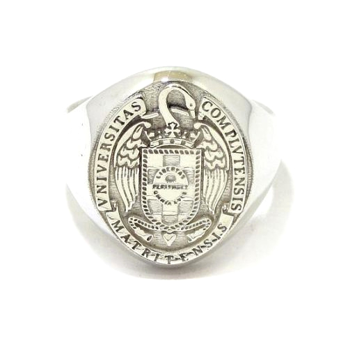 Anillo sello Universidad plata 925