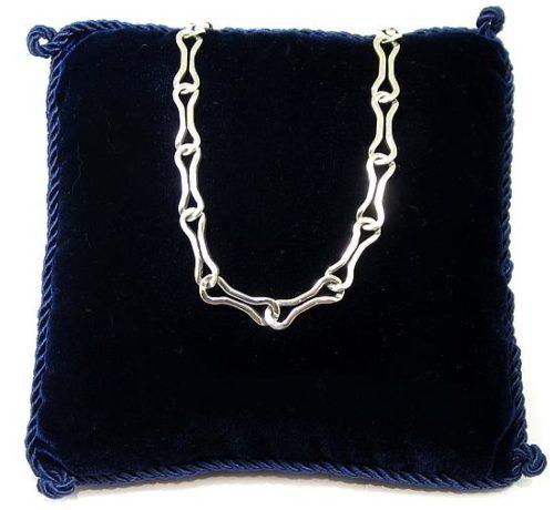 Collar plata cadenas navarra