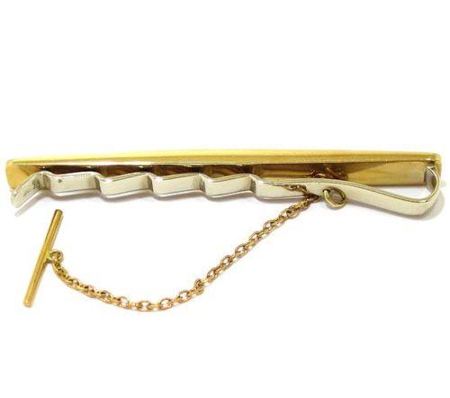 Sujetacorbatas recto curvado oro amarillo