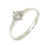 Anillo Solitario diamante brillante 0.35ct garras oro