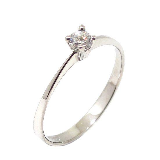 Anillo Solitario diamante brillante 0.15ct garras oro