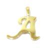 Colgante inicial letra A oro amarillo