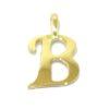 Colgante inicial letra B oro amarillo