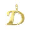 Colgante inicial letra D oro amarillo