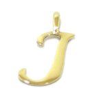 Colgante inicial letra J oro amarillo