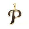 Colgante inicial letra P oro amarillo