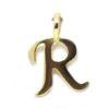 Colgante inicial letra R oro amarillo