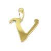 Colgante inicial letra V oro amarillo
