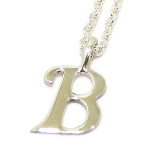 Colgante inicial B cadena plata