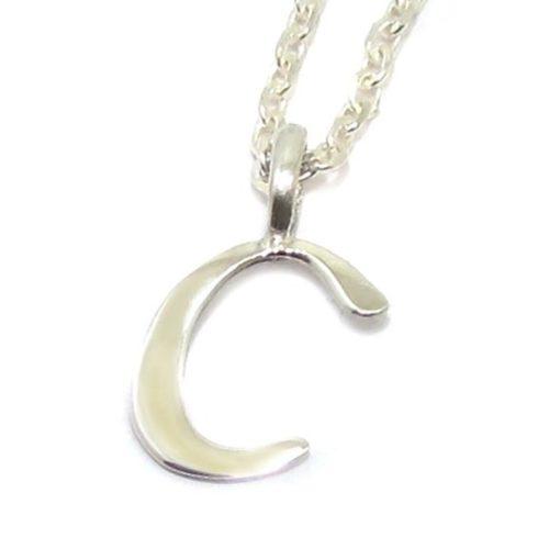 Colgante inicial C cadena plata