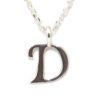 Colgante inicial D cadena plata