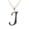 Colgante inicial J cadena plata