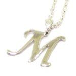 Colgante inicial M cadena plata