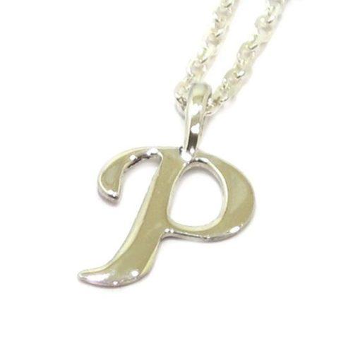 Colgante inicial P cadena plata