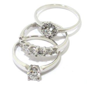 Anillos de oro con diamantes