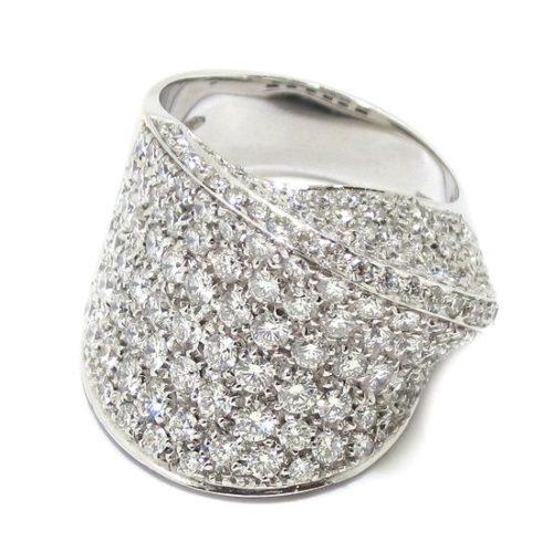 Anillo diamantes pavé oro blanco