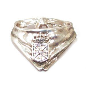Colgante pañuelico escudo Navarra plata