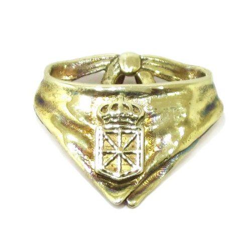 Colgante pañuelico Navarra plata baño oro