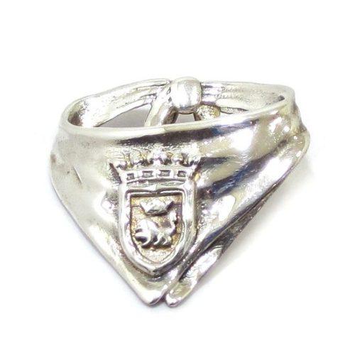 Colgante pañuelico escudo Pamplona plata