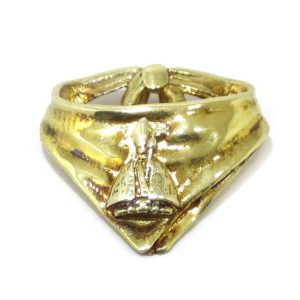 Colgante pañuelico San Fermin plata baño oro