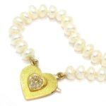 Collar perlas cierre oro amarillo diamantes