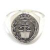 Anillo sello profesion Abogado-Derecho plata amarilla